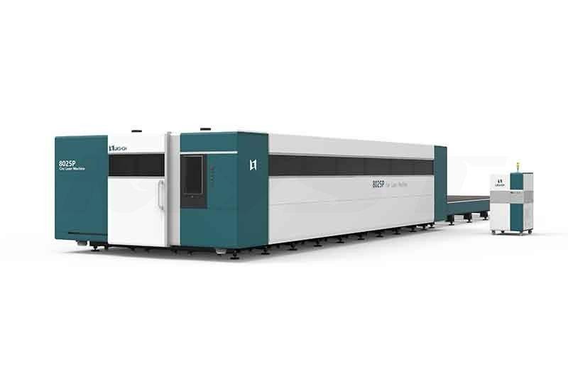 LX8025P China best high power metal sheet plate enclosed fiber laser cutting machine stainless steel crabon steel iron price